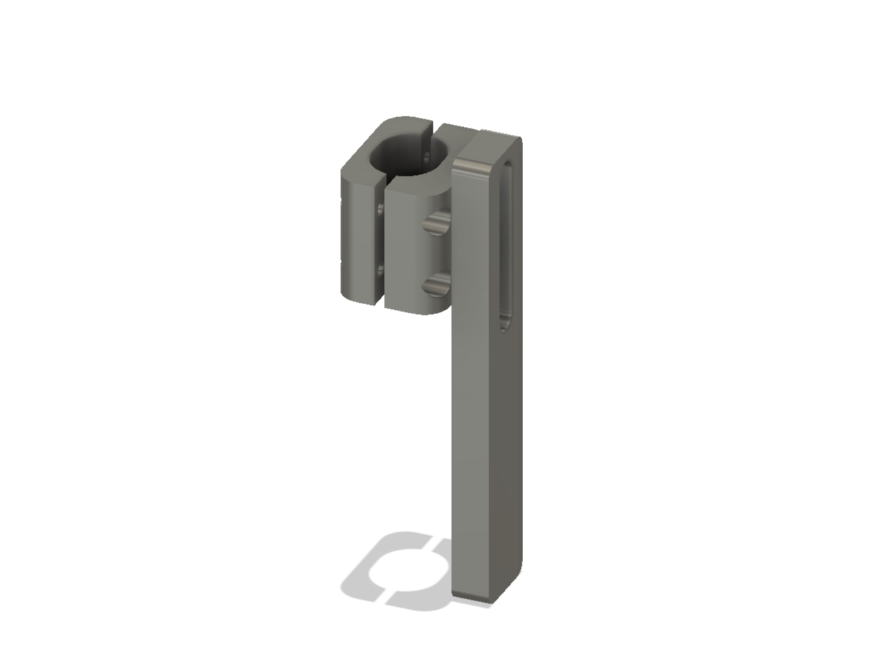 image of 3d CAD model of Disability Lab wheelchair Anti-Tip Forward Bars